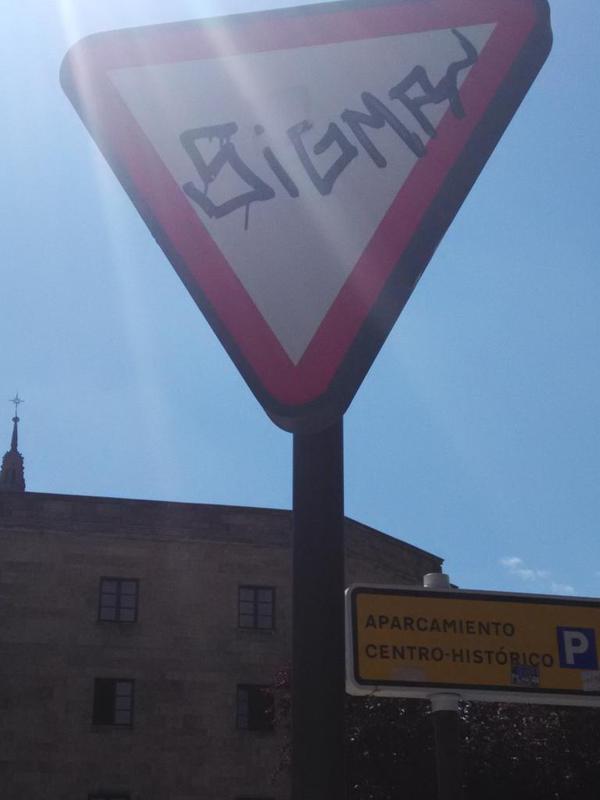 El grafitero con nombre de sumatorio